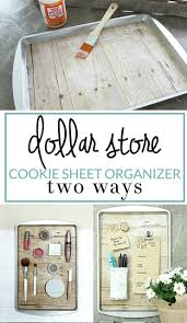 19 clever upcycled cookie sheet organizer craft