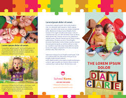 child day care brochure template myindesign daycare