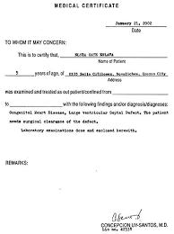 Medical Chit Sample Medical Certificate Health Assessment