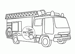 Small Picture Fire Truck with Ladder coloring page for kids transportation