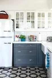 black and white tile floor kitchen. Black And White Tile Floor Kitchen Farmhouse With