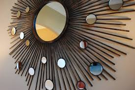 circle round mirror wall decor home