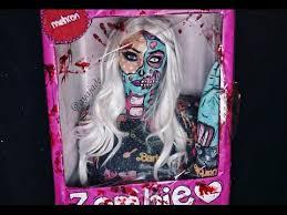 pop art zombie barbie makeup tutorial