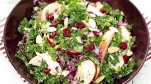 """Résultat de recherche d'images pour """"Salade de chou kale, amandes, pommes et cranberry"""""""
