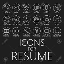 Resume Icons Set Of Line Icons For Your Resume CV Job Royalty Free Cliparts 37