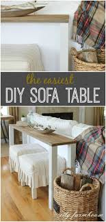 diy sofa table using reclaimed wood the easiest ever