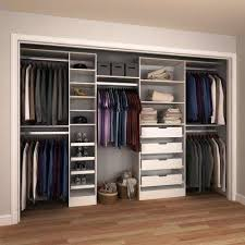 Wood closet shelving Linen Closet 15 In The Home Depot Melamine Wood Closet Systems Closet Systems The Home Depot