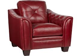 red leather chair. Wonderful Leather Inside Red Leather Chair Rooms To Go