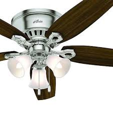 details about hunter fan 52 inch brushed nickel ceiling fan with light kit remote control