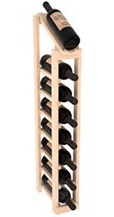 single row wine rack.  Wine Wine Racks America Ponderosa Pine 1 Column 8 Row Display Top Kit Unstained Intended Single Rack I
