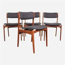 teak dining chair amazing eric buch o d mobler mid century modern teak dining chairs set of