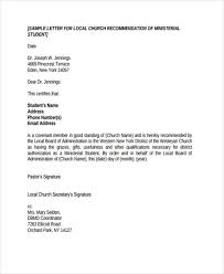 Church Recommendation Letter 79 Examples Of Re Mendation Letters