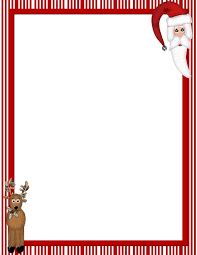 christmas menu borders printable christmas paper borders printable menu and chart