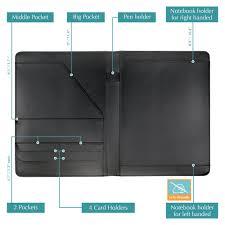Resume Holder Cool Wundermax Padfolio Portfolio Leather Folder Business Folder Profession