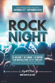 Concert Poster Design Rock Night Concert Poster Template Postermywall