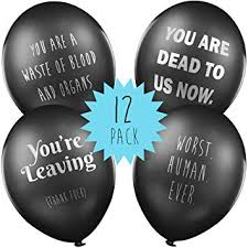 the office traitor rude office leaving party balloons pack of 12 leaving gifts for colleagues ideas