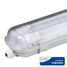V Tac Led Tl Armatuur 120 Cm 6400k Ip65 Incl 2x18 Watt Samsung Led Buizen