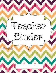 Teacher Binder Templates Bright Chevron Teacher Binder Covers By Jena Smith Tpt