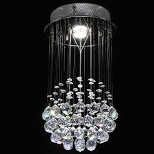 Kroonluchter Plafondlamp Hanglamp Lamp Glazen Druppels Hangende Wolk