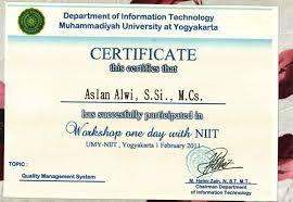 Sertifikat Pelatihan Pelatihan Pelatihan Dalam Kumpulan Sertifikat Yang Diperoleh
