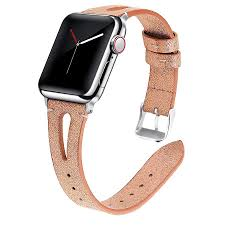details of finnsalle leather band compatible for apple watch 38mm and 42mm 40mm and 44mm slim elegant strap women replacement bands for apple