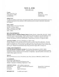 Resume Template With Objective Warehouse Worker Resume Sample Psdco Org