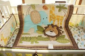 african forest animals prints baby bedding print embroidery crib bedding set quilt per bed skirt mattress cover
