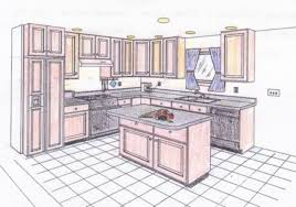 kitchen drawing perspective. Unique Kitchen 640x448 An Interior Sketch Of A Kitchen In One Point Perspective Two With Drawing