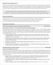 Executive Assistant Resume Templates Impressive 48 Free Executive Resume Templates PDF DOC Free Premium