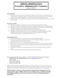 Administrative assistant Resume Summary Samples New Executive assistant to  Board Of Directors Resume Executive