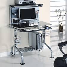 glass computer desk cable management