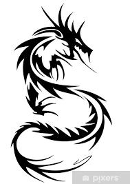 Nálepka Tribal Tetování Drak Pixerstick