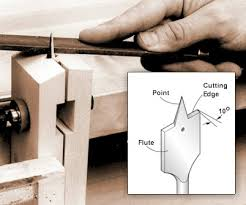 forstner bit vs spade. 1 to sharpen a spade bit, first the flutes with mill file or auger file. hold at 10 degree angle (approximately) and edges so forstner bit vs