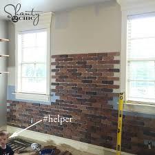 diy thin brick wall interior faux brick wall tiles