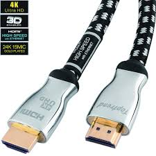 4k hdmi cable 12ft hdmi 2 0 cord supports 1080p 3d 2160p 4k uhd hdr ethernet and audio return cl3 for in wall installation 28awg braided for hdtv