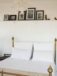 wainscoting used as bedroom shelf