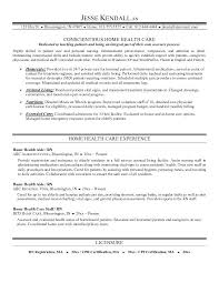 Home Health Nurse Job Description Resume
