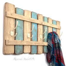 rustic wood coat rack rustic wood coat rack nautical blue coat hook shabby chic cottage beach nautical towel rack pallet furniture