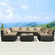 outdoor sectional. Fine Sectional Modenzi Outdoor Wicker Sofa Set For Outdoor Sectional P
