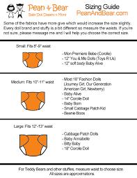 Baby Doll Diaper Size Chart Peanandbear Diaper Size