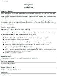 Tester Resumes Qa Tester Resume Sample Resume Template Tester Resume Samples Tester