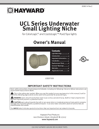 Hayward Spa Light Ucl Series Underwater Small Lighting Niche