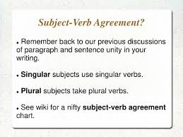 Subject Verb Agreement Chart Ppt Subject Verb Agreement Powerpoint Presentation Free
