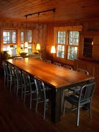 rustic elements furniture custom builds oversized tables that are available in your choice of color finish and distress