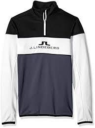 J Lindeberg Mens Kimball Striped Midlayer Jacket