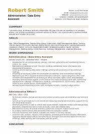Key Skills Resume Administrative Assistant Administrative Assistant Data Entry Resume Samples Qwikresume