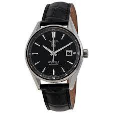 tag heuer carrera calibre 5 black dial men s watch war211afc6180 item no war211a fc6180