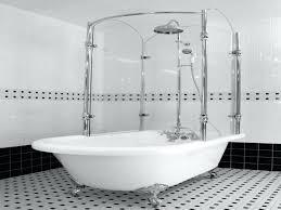 leg tub shower kit curtain wall mounts spout bathtub rod clawfoot