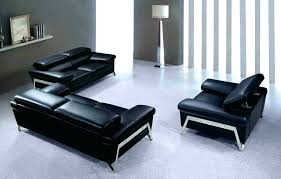 modern black leather couch the sofa set furniture living room design ideas cou
