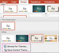 themes for ms powerpoint customize and save a theme in powerpoint for mac powerpoint for mac